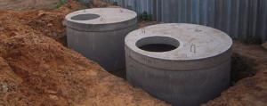 Септик из бетонных колец в Наро-Фоминском районе, бетонный септик